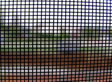 World through mosquito net no.1 royalty free stock photography