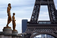 World most famous landmark Eiffel tower in Paris France during sunrise no people in picture royalty free stock images