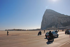 The World Most Interesting Airport Runway in Gibraltar The Rock Royalty Free Stock Image