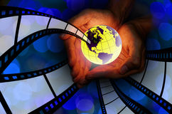 World movie concept Stock Images