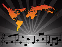 World Music. In orange and black Stock Images