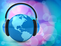 World music. 3d Abstract background Stock Images