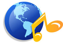 World music  icons Royalty Free Stock Images