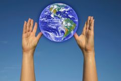 WORLD IN MY HANDS Stock Image