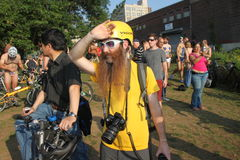 World Naked Bike Ride - New York Royalty Free Stock Photography