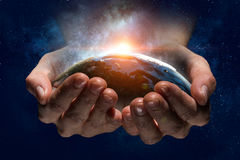 This world needs care and protection Stock Images