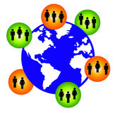 World network. Global network of groups of people Royalty Free Stock Photo