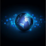 World with network communication and global technology concept Royalty Free Stock Photography