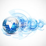 World network communication and technology concept Stock Image