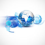 World network communication and technology concept Royalty Free Stock Image
