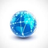 World network communication and technology, vector & illustration Stock Image