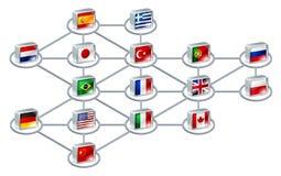 World network concept Stock Photo