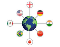 World network connections Royalty Free Stock Images