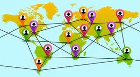World network vector illustration