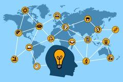 World network stock illustration