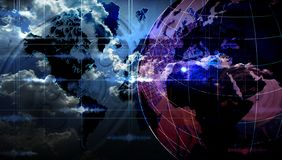 World network technology. global technology communication . royalty free stock photos