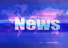 World news. Web, graphism about information, knowledge Royalty Free Stock Images