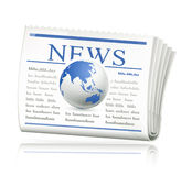 World news. Computer illustration, isolated on the white Royalty Free Stock Images