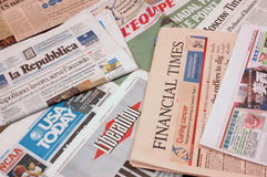 World News. Newspapers from around the world Royalty Free Stock Image