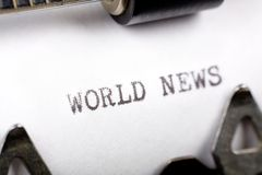 World News Stock Image