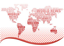 World news concept. Abstract world map. Made from World news words. Vector Royalty Free Stock Photos