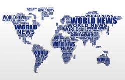 World news concept. Abstract world map. Made from World news words. Vector Royalty Free Stock Photo