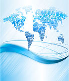 World news concept. Abstract world map Royalty Free Stock Photography
