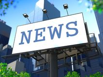 World News Concept on Billboard. Royalty Free Stock Images