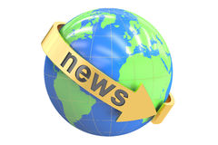 World News concept, 3D rendering Stock Photos