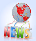 World news. 3D concept background ,icon Royalty Free Stock Images