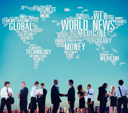 World News Globalization Advertising Event Media Infomation Conc Stock Images