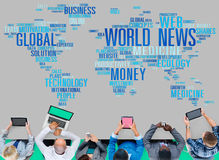 World News Globalization Advertising Event Media Infomation Conc Stock Photo