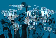 World News Globalization Advertising Event Media Infomation Conc Stock Photos