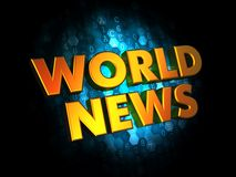 World News - Gold 3D Words. Royalty Free Stock Image