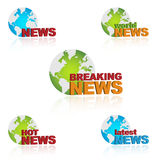 World news icons stock images
