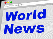 World News Indicates Newsletter Info And Globalize Stock Image