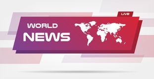 World News Live Banner on Wavy Lines Background. Business Technology News Background. Vector Illustration. Vector royalty free illustration