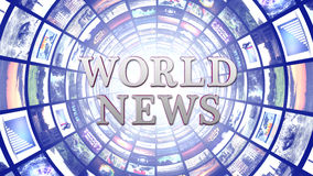 WORLD NEWS and Monitors Tunnel, Background Stock Photos