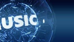 World News Music Internet Intro Teaser blue stock footage