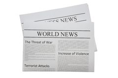 World news newspaper Stock Image