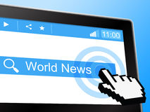 World News Shows Globally Newsletter And Worldly Royalty Free Stock Photo