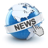 World news symbol, 3d render Royalty Free Stock Images