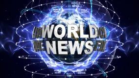 WORLD NEWS Text Around the World, Computer Graphics Stock Photography