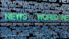 World News stock video footage