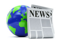 World and newspapers Stock Images
