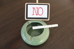 World no tobacco day!. This sign for campaign in World no tobacco day Stock Photography