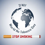 World No Tobacco Day background Stock Photos