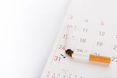World No Tobacco Day : Broken cigarette Royalty Free Stock Image
