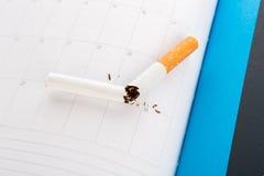 World No Tobacco Day : Broken cigarette Stock Photo