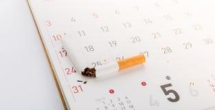 World No Tobacco Day : Broken cigarette Stock Images